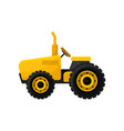 small bright yellow tractor professional vector image vector image