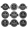 Solid Color Premium Quality Badges vector image vector image