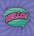 speech bubble with hello word comic pop art vector image vector image