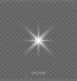 star light shine bright starlight rays sparks vector image vector image