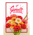 Summer Lettering poster vector image vector image