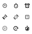 time icons set vector image