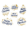variety merry christmas emblems vector image vector image