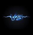 versus vs logo battle headline template vector image vector image