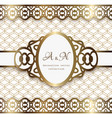 vintage gold oval frame with lace borders vector image vector image