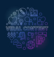 viral content circular colorful concept vector image vector image