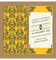 Wedding card yellow grey vector image vector image