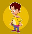 cartoon character a boy or a girl with short hair vector image