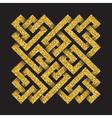 Golden glittering logo template in Celtic knots vector image