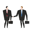 Transaction business Managers shaking hands vector image