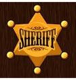 Golden sheriff star badge on vector image