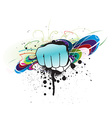 grunge hand punch vector image