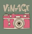 pink retro film camera icon flat vector image
