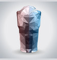 abstract polygonal tirangle cocktail long island vector image vector image