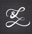 ampersand symbol hand drawn grunge sign isolated vector image vector image