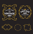 art nouveau frame set vector image