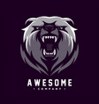 awesome angry bear logo design vector image vector image