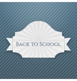 Back to School curved Tag vector image