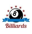 Billiard sport symbol vector image vector image