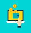bitcoin wallet concept vector image