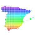 bright dot spain map vector image vector image