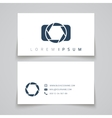 Business card template Camera conceptl logo vector image vector image