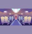 business class in plane private jet empty interior vector image