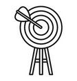 business target icon outline style vector image vector image