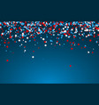 celebration confetti in national colors usa vector image vector image
