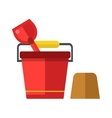 Child bucket vector image