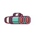 classic binocular line icon vector image vector image