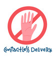 contactless delivery sign and symbol delivery vector image vector image