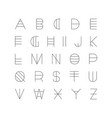 creative futuristic font modern english alphabet vector image