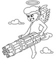 cupid line art vector image