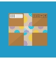 Delivery postal cardboard box vector image vector image