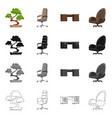 design of furniture and work logo set of vector image vector image