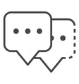 double chat bubble icon outline style vector image
