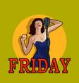 female singer in karaoke jazz or blues club live vector image vector image
