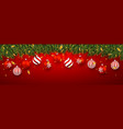 festive christmas or new year background vector image