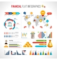 Finance flat infographic vector image vector image