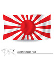 Flag of Japanese War vector image