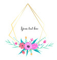 geometric frame with flower botanical vector image vector image