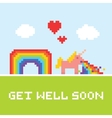 Get well soon unicorn vector image vector image