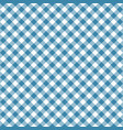 gingham blue pattern vector image vector image