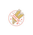 gluten free label badge for healthy no-allergen vector image vector image