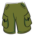 green shorts on white background vector image vector image