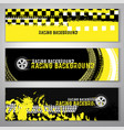 Grunge checkered racing banner vector image