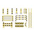 guard post sentry yellow and black bollard icon vector image vector image