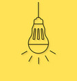 hanging thin line led bulb vector image vector image