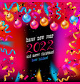 happy new year 2022 banner vector image